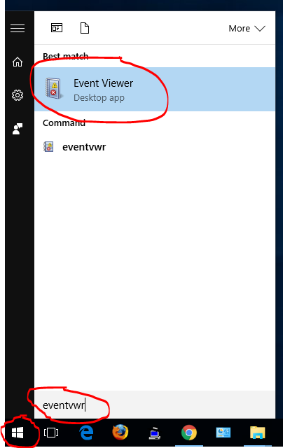 Start Event Viewer